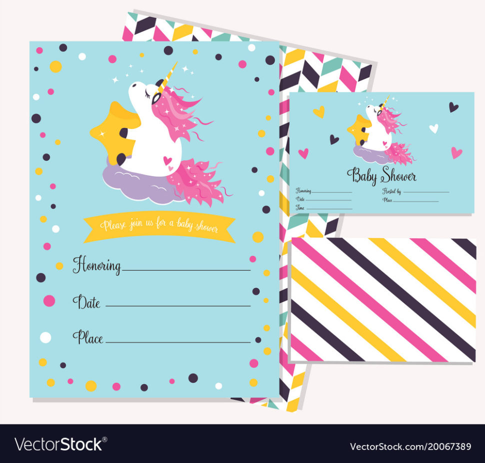 Medium Size of Baby Shower:sturdy Baby Shower Invitation Template Image Concepts Baby Shower Invitation Template With Cute Unicorn Vector Image