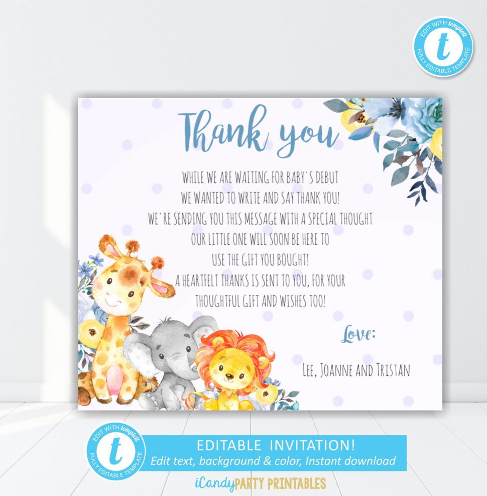 Medium Size of Baby Shower:72+ Rousing Baby Shower Thank You Cards Picture Ideas Baby Shower Thank You Cards Baby Shower Hairstyles Baby Shower De Baby Shower Hashtag Ideas Baby Shower Giveaways Baby Shower Napkins Nautical Baby Shower Thank You Cards Beautiful Safari Animal Boy