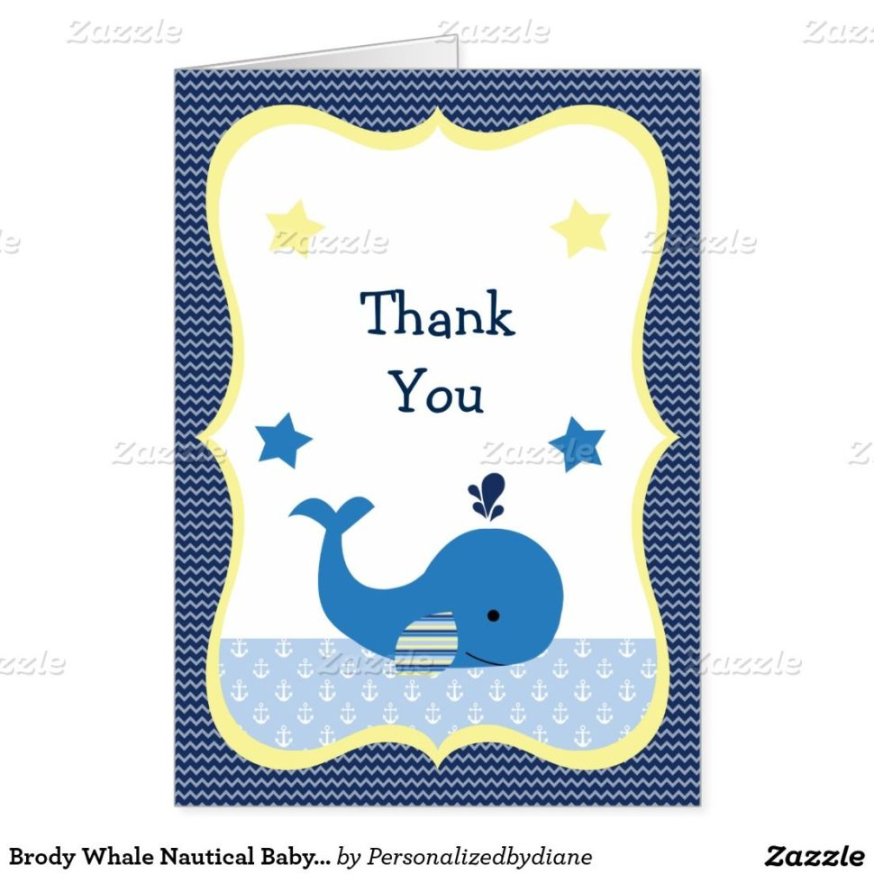 Medium Size of Baby Shower:72+ Rousing Baby Shower Thank You Cards Picture Ideas Baby Shower Thank You Cards Brody Whale Nautical Baby Shower Thank You Card