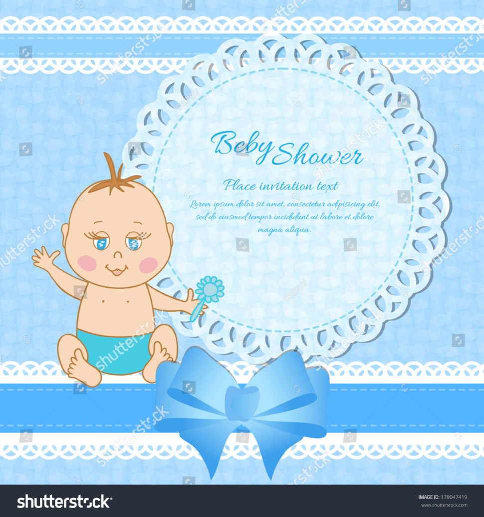 Baby Shower:Stylish Baby Shower Wishes Picture Inspirations Baby Shower Wishes Baby Shower Greeting Card Baby Boy Stock Vector 178047419 Shutterstock