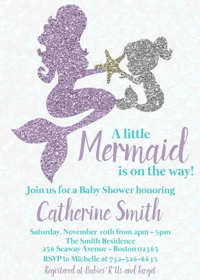 Large Size of Baby Shower:63+ Delightful Cheap Baby Shower Invitations Image Inspirations Cheap Baby Shower Invitations Mermaid Baby Shower Invitation Mother Baby Under The Sea Party Teal Teal And Lavender Glitter Mermaid Mother And Child Baby Shower Invitation