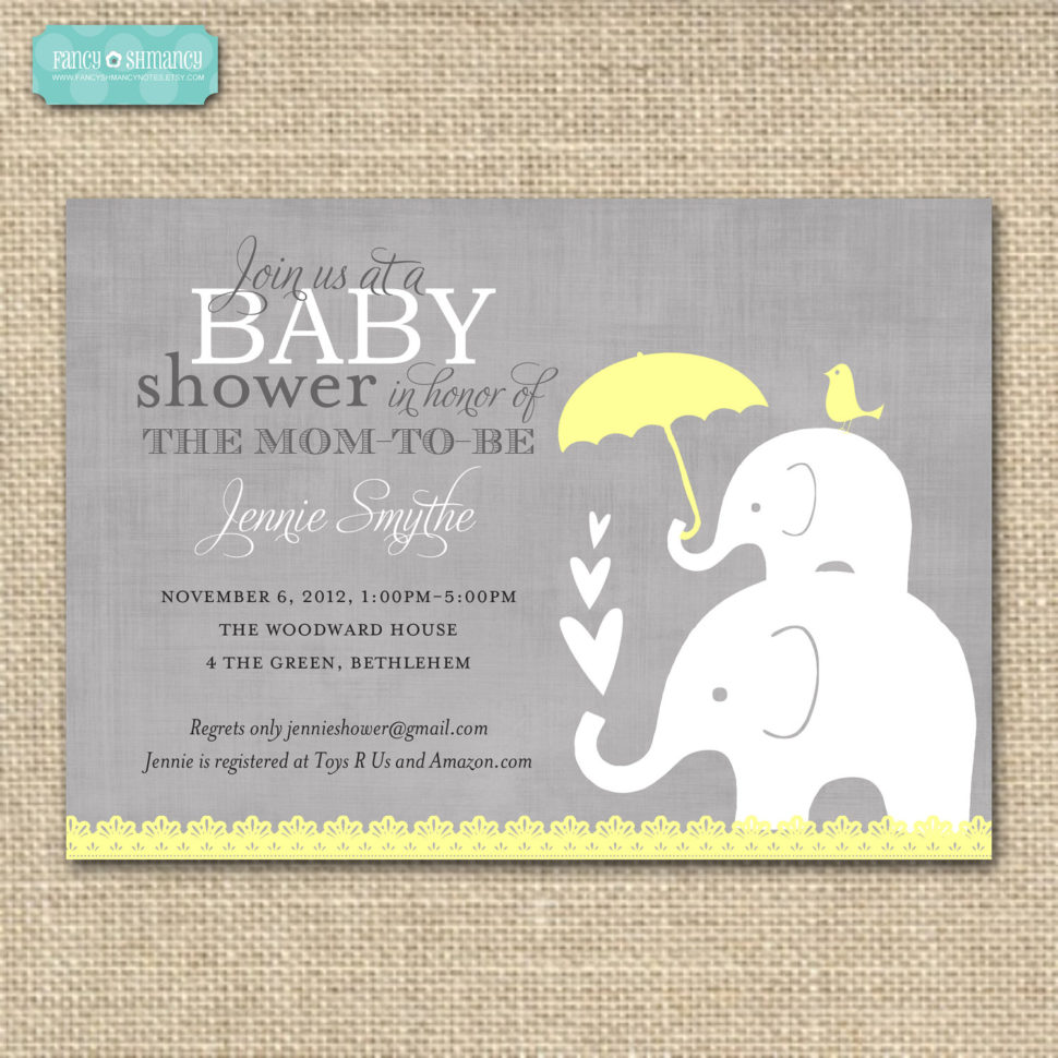 Medium Size of Baby Shower:inspirational Elephant Baby Shower Invitations Photo Concepts Elephant Baby Shower Invitations And Homemade Baby Shower Gifts With Baby Shower Labels Plus Baby Shower Door Prizes Together With Baby Shower Tea As Well As Baby Shower Templates