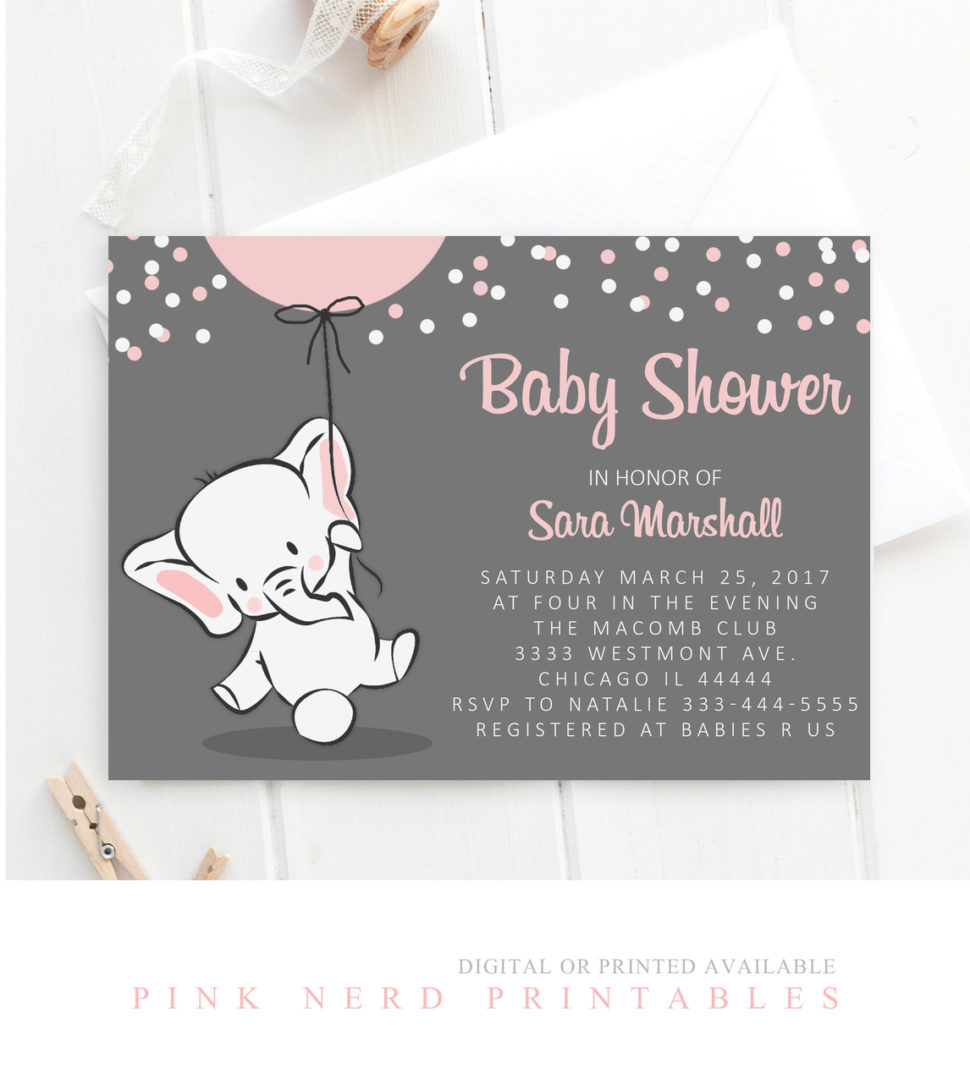 Medium Size of Baby Shower:inspirational Elephant Baby Shower Invitations Photo Concepts Elephant Baby Shower Invitations Elephant Baby Shower Invitation Elephant Holding Balloon Baby Shower Invitation