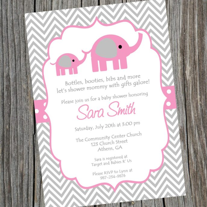 Large Size of Baby Shower:inspirational Elephant Baby Shower Invitations Photo Concepts Elephant Baby Shower Invitations Invitation For Baby Shower Fascinating Pink And Grey Elephant Baby