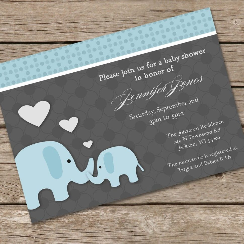 Medium Size of Baby Shower:inspirational Elephant Baby Shower Invitations Photo Concepts Elephant Baby Shower Invitations Pin By Vio Karon Impressive Elephant Baby Shower Invitations