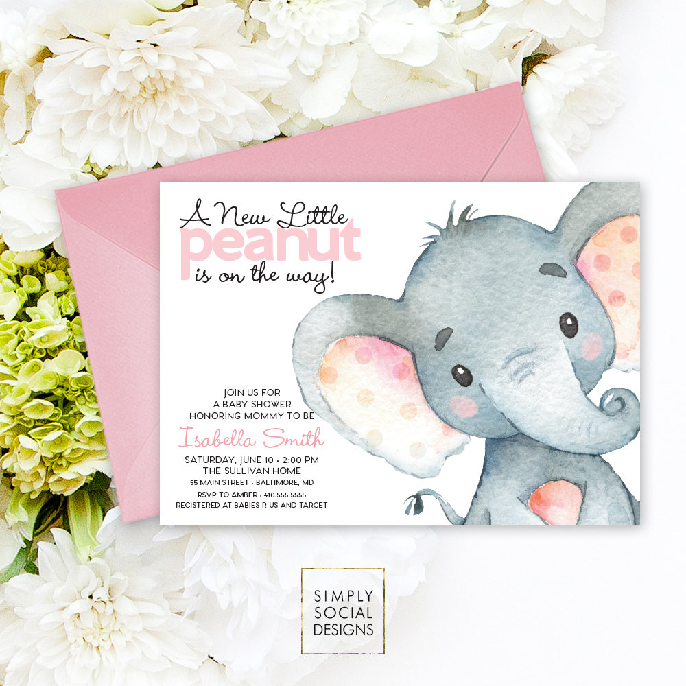 Full Size of Baby Shower:inspirational Elephant Baby Shower Invitations Photo Concepts Elephant Baby Shower Invitations Pink Elephant Baby Shower Invitation Its A Watercolor Gallery Photo Gallery Photo Gallery Photo