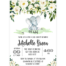 Baby Shower:Inspirational Elephant Baby Shower Invitations Photo Concepts Elephant Baby Shower Invitations White And Green Floral Elephant Baby Shower Invitation Printable