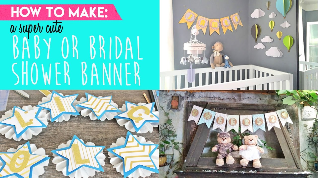 Full Size of Baby Shower:89+ Indulging Baby Shower Banner Picture Inspirations Make The Cutest Baby Or Bridal Shower Banner Youtube
