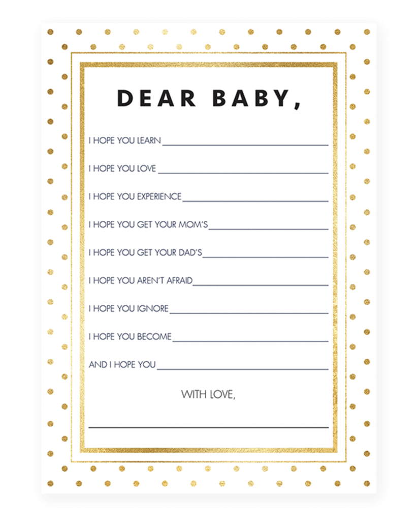 Full Size of Baby Shower:stylish Baby Shower Wishes Picture Inspirations Neutral Baby Shower Wishes For The New Baby Printables Ndash Littlesizzle Modern Baby Shower Wish Card Printable By Littlesizzle