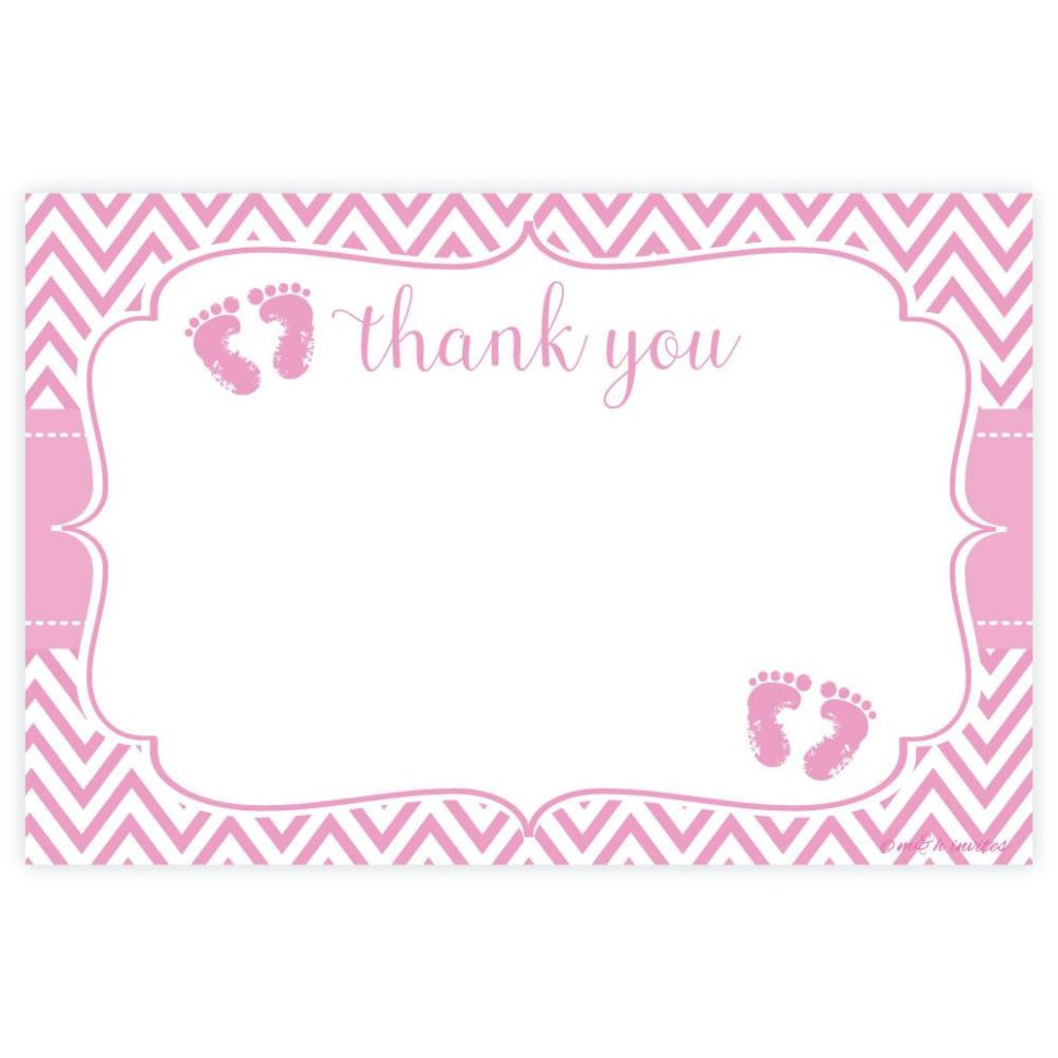 Medium Size of Baby Shower:72+ Rousing Baby Shower Thank You Cards Picture Ideas Pink Feet Baby Shower Thank You Note Cards Madison And Hill Pink Feet Baby Shower Thank You Cards