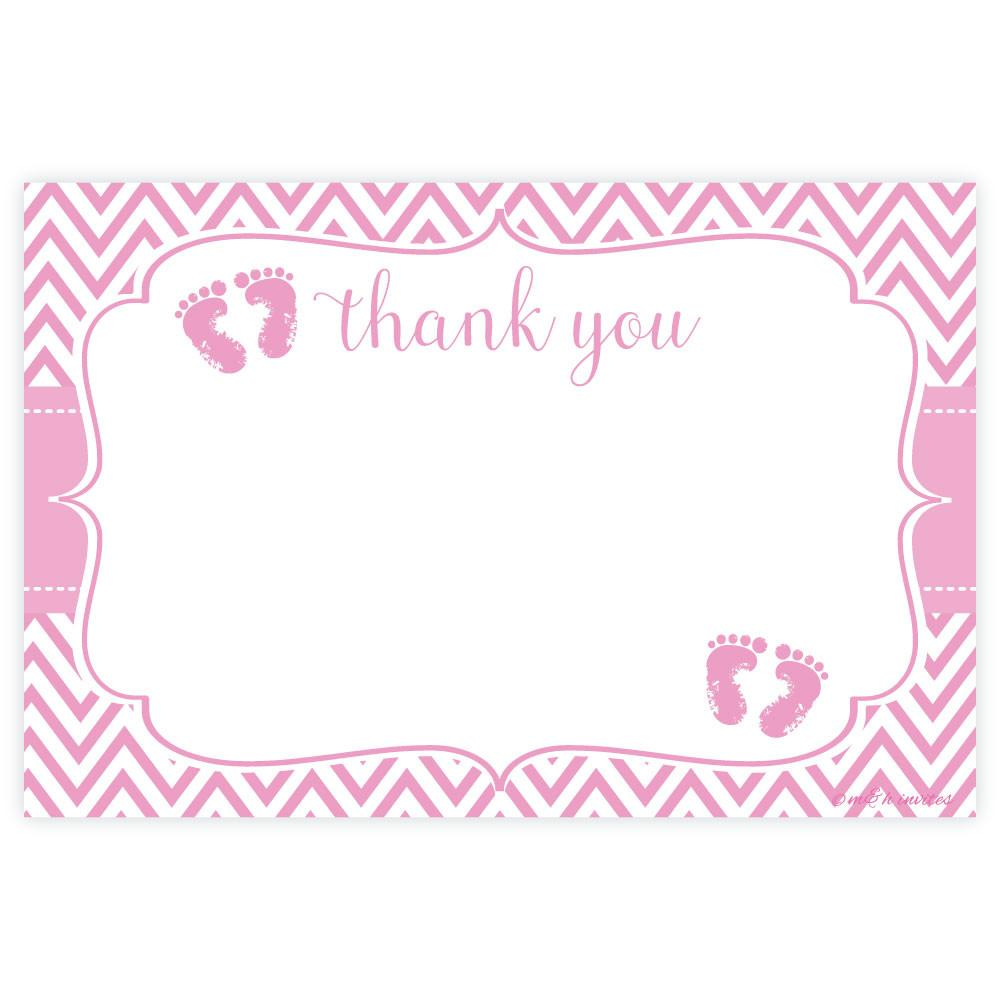 Full Size of Baby Shower:72+ Rousing Baby Shower Thank You Cards Picture Ideas Pink Feet Baby Shower Thank You Note Cards Madison And Hill Pink Feet Baby Shower Thank You Cards