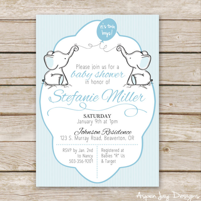 Large Size of Baby Shower:inspirational Elephant Baby Shower Invitations Photo Concepts Twin Elephant Baby Shower Guest Book Printable Aspen Jay Twin Elephant Baby Shower Invites Not To Mention A Free Elephant Guest
