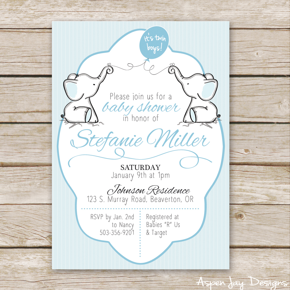 Full Size of Baby Shower:inspirational Elephant Baby Shower Invitations Photo Concepts Twin Elephant Baby Shower Guest Book Printable Aspen Jay Twin Elephant Baby Shower Invites Not To Mention A Free Elephant Guest