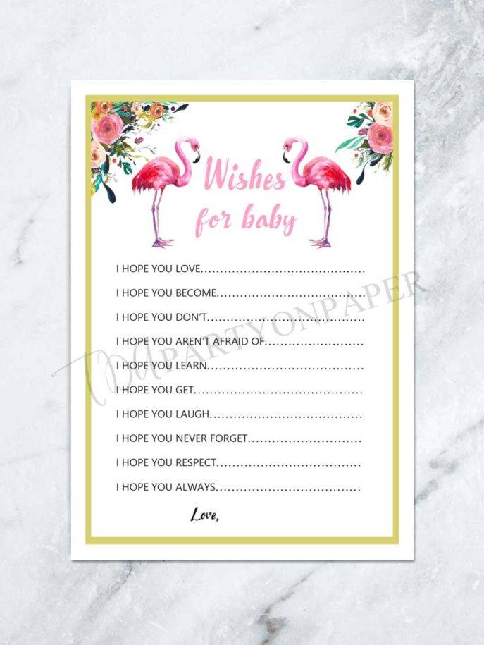 Large Size of Baby Shower:stylish Baby Shower Wishes Picture Inspirations Wishes For Baby Printable Baby Shower Wishes List Baby Shower Game Wishes For Baby Printable Baby Shower Wishes List Baby Shower Game Flamingo Baby Shower Pink Flamingo Tropical Baby Shower Digital File
