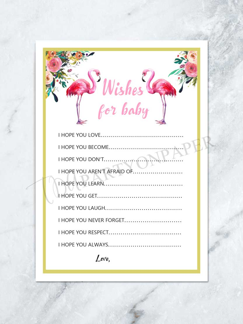 Full Size of Baby Shower:stylish Baby Shower Wishes Picture Inspirations Wishes For Baby Printable Baby Shower Wishes List Baby Shower Game Wishes For Baby Printable Baby Shower Wishes List Baby Shower Game Flamingo Baby Shower Pink Flamingo Tropical Baby Shower Digital File