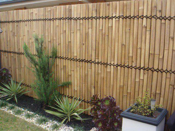 Bamboo Privacy Fence Garden Fence
