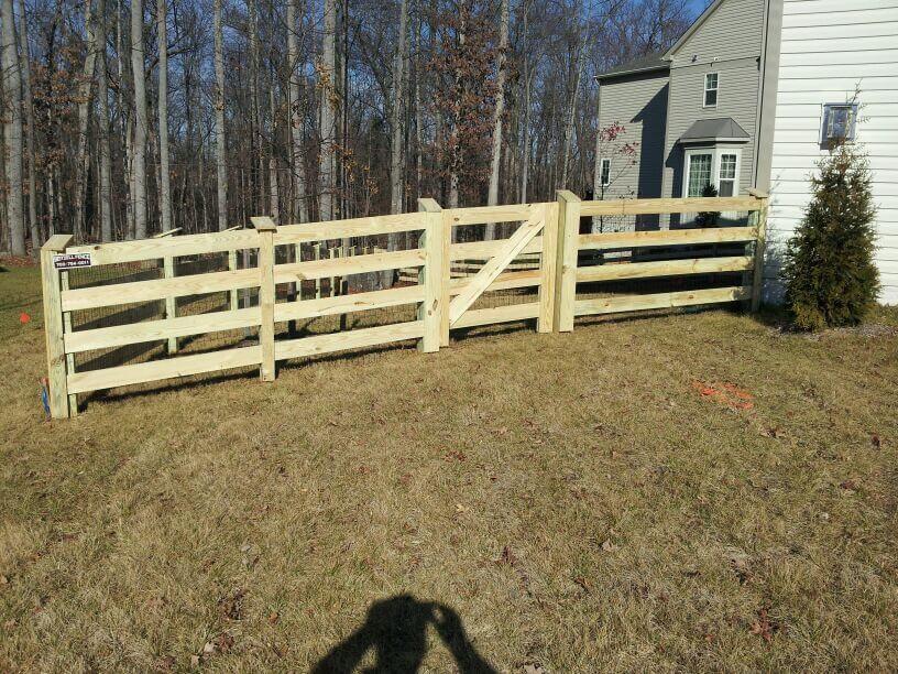 Diagonal Slatted Goat Fence