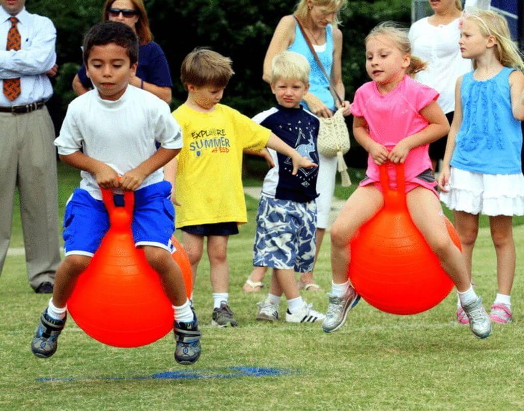 Hopper Ball Relay