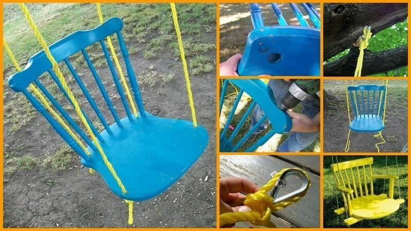 The Wooden Chair Swing