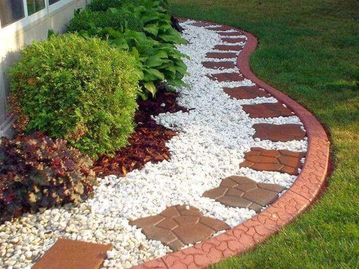 Rock Tiling Garden Designing