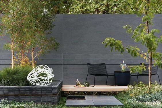 Solid Concrete Backyard Walls Garden Fence