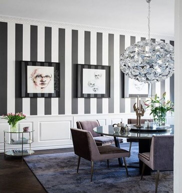 Use Stripes to Jazz Up Your Dining Halls